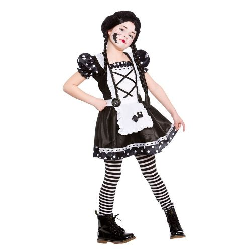Childrens Girls Halloween Broken Doll Costume for Trick Or Treat Fancy Dress